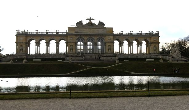 Gloriette at the top of the hill