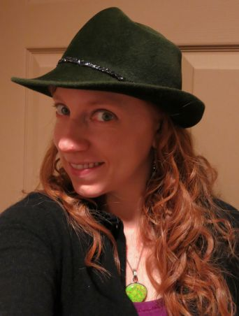The hat that put me on the map. That shiny stuff around the base is braided audiotape.
