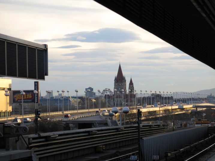 View from the train platform near the conference center