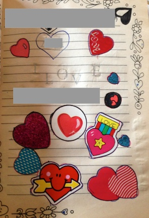 You know it's true love because there are so many heart stickers