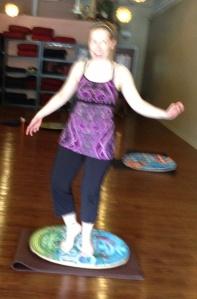 Yoga on an Indo Board