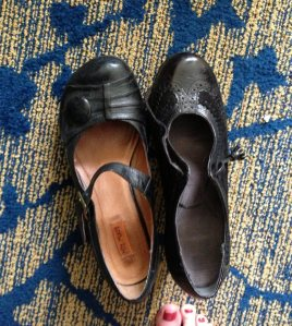One of the many reasons I laughed at myself--for a trip, I packed 2 black shoes, 2 nonmatching black shoes
