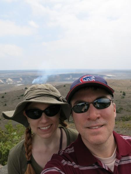 At Halema'uma'u Crater