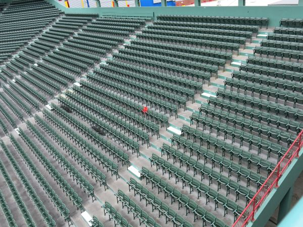 Those are not *real* bleachers, but I do like the one red seat.