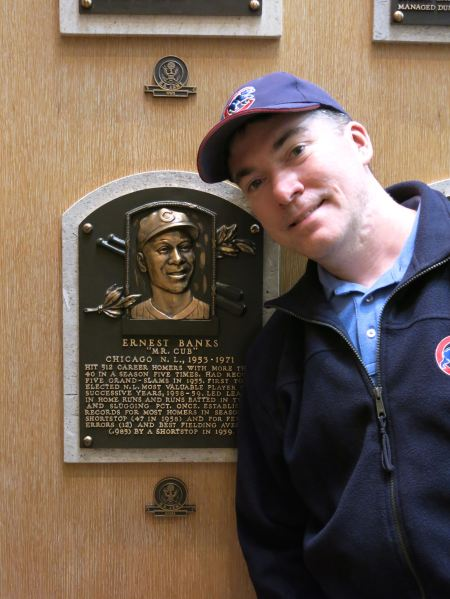 Ian with Mr. Cub
